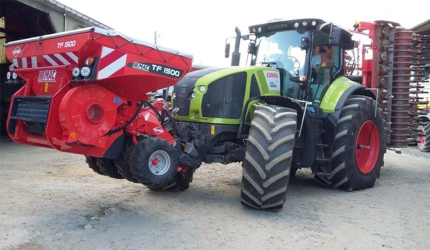 Lastverteilung, Traktor mit VF-Reifen