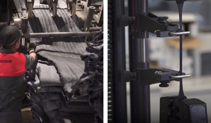 Herstellung der Gummimischung und Elastizitätsprüfung