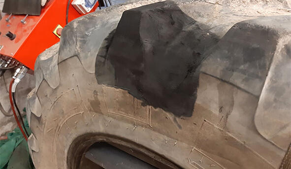 Reparaturtechniken von Traktorreifen