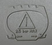 Angabe des maximalen Drucks auf dem Reifen